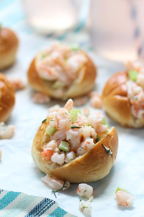 Mini Shrimp Rolls on Buttered Challah via cookingforkeeps.com @cookingforkeeps