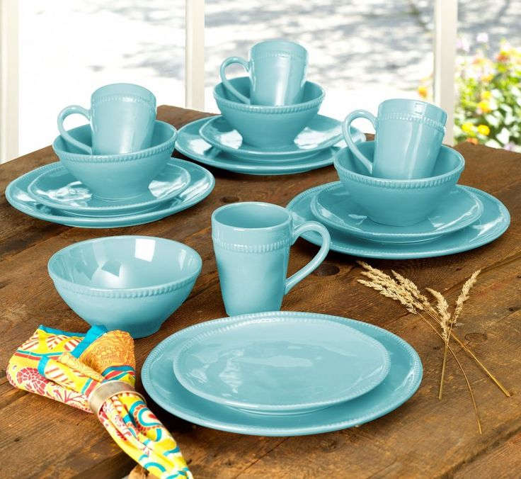 Algarve 16 Piece Dinnerware Set in Blue by Euro Ceramica #EuroCeramica & 13 best Made in Portugal images on Pinterest | Euro Portugal and ...