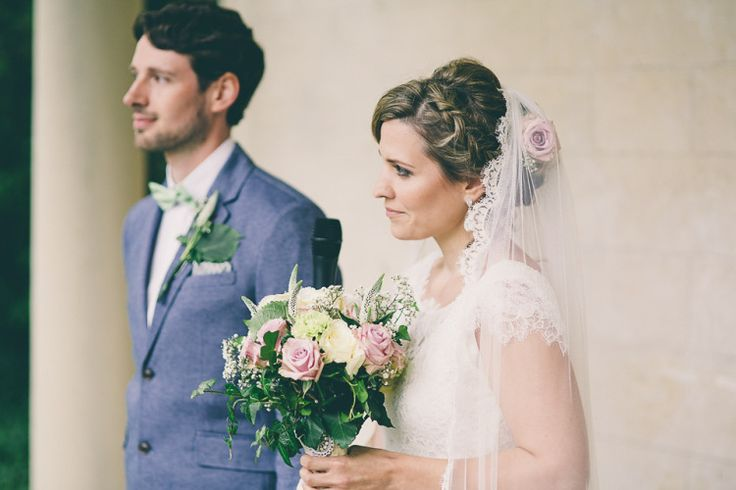 Charlie Brear Elegance and Green Polka Dot Glamour for a Laid Back Wedding on the Family Farm   Love My Dress® UK Wedding Blog Helen Martin Ltd veil, poly 'silky' tulle with French lace edge