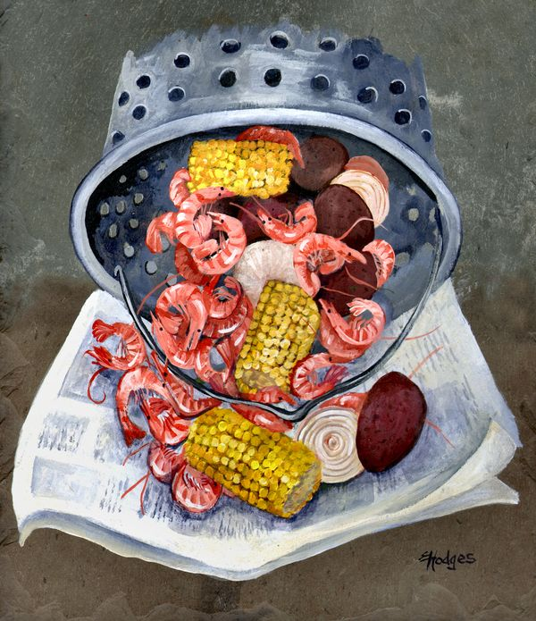 Shrimp Boil Painting Shrimp Boil Fine Art Print Elaine