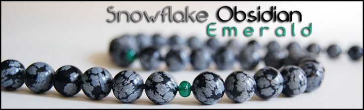 GEMFormulas :: Snowflake Obsidian - Emerald Necklace