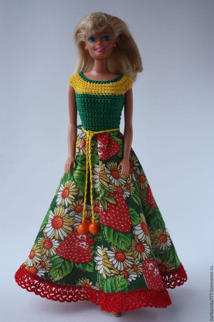 Купить Дачница - барби, одежда для кукол, подарок девочке, нитки хлопок ☆