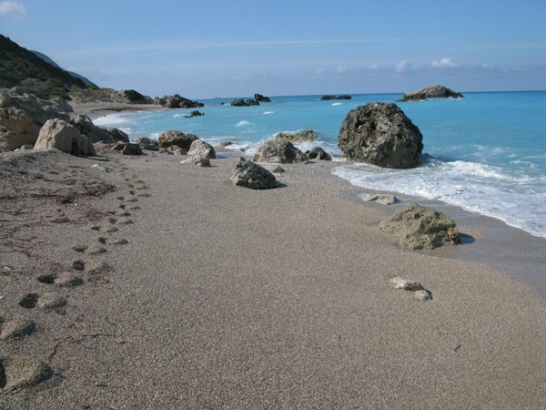 Lefkada - The south end of Kathisma beach.