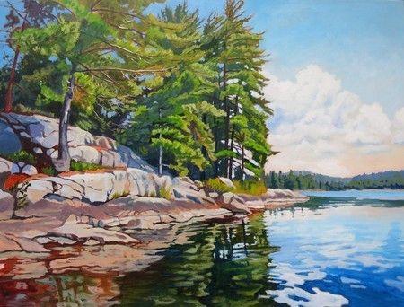 Shoreline Reflections, Algonquin Park