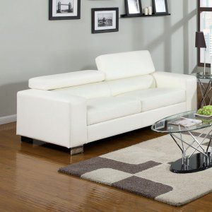 White, Faux Leather & Leather Sofas & Loveseats on Hayneedle - White, Faux Leather & Leather Sofas & Loveseats For Sale