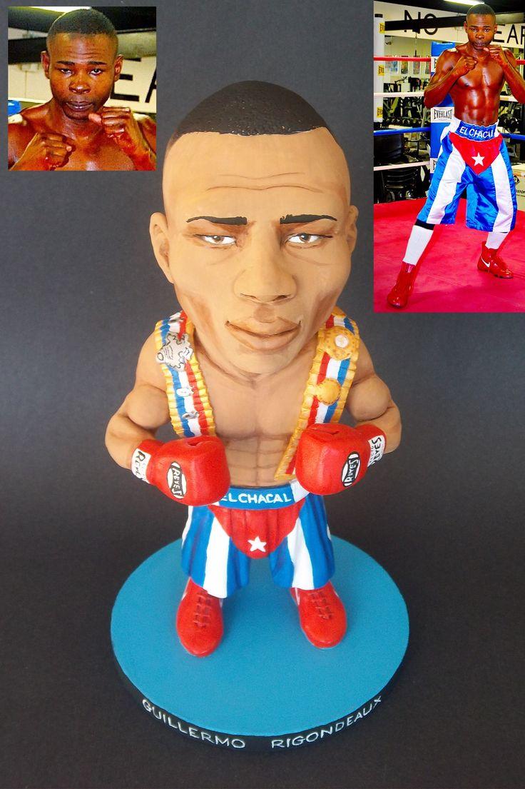 Rigondeaux custom boxing sculpture by Mizog Collectibles