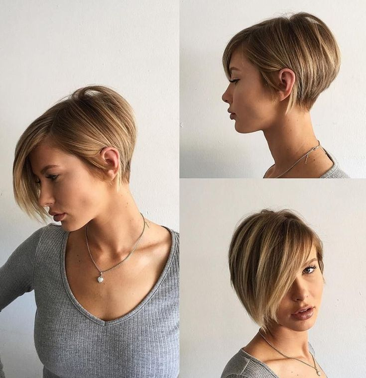 The modern Bob hairstyles with A-line (short back, long front)