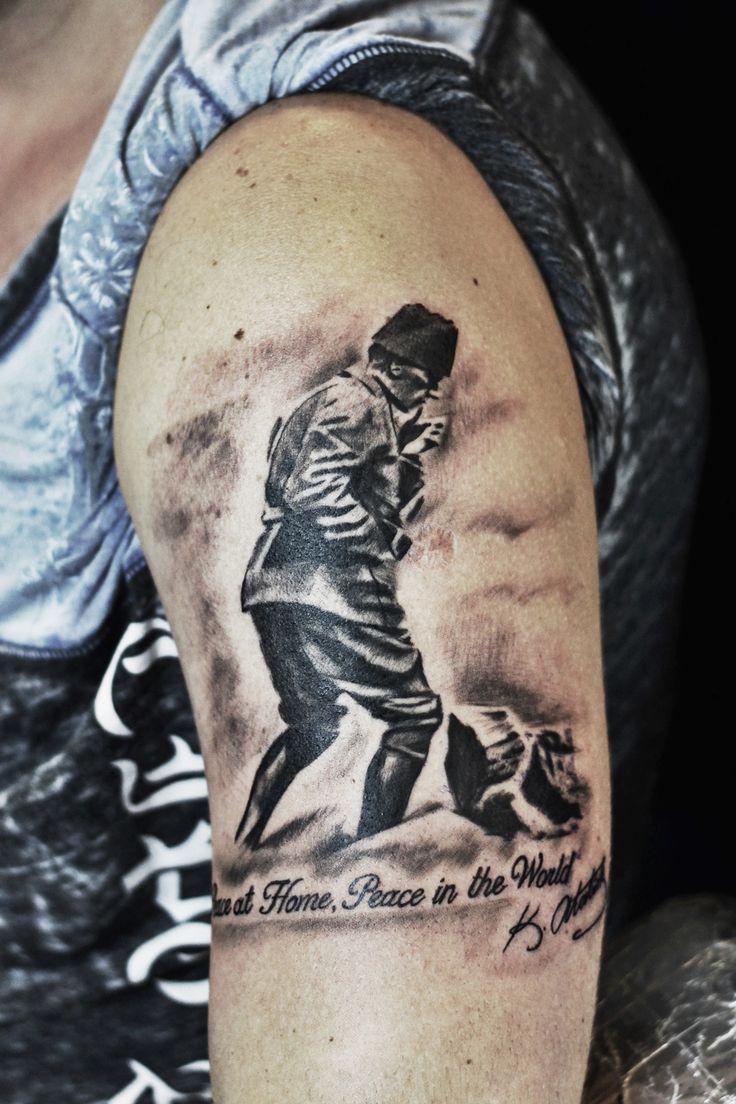 atatürk - omuz dövmesi - taksim dövme - dövme sanatçısı - engin sahin