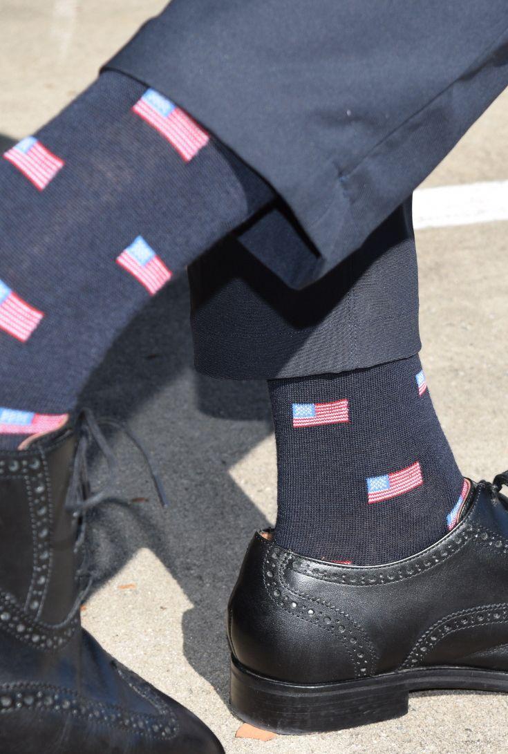American Flag Dark Navy Merino Wool Over The Calf Dress Socks Dress Socks American Flag Dress Sock Shoes [ 1091 x 735 Pixel ]