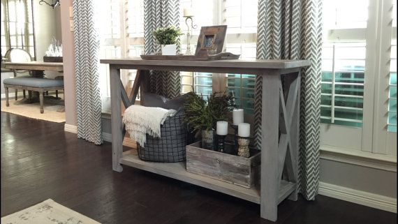 Hey, I found this really awesome Etsy listing at https://www.etsy.com/pt/listing/277326678/rustic-x-farmhouse-console-table