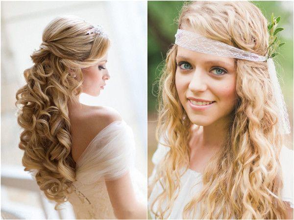 Lockige Haarverlängerungen verleihen Ihrem charmanten Look bei Ihrer Hochzeit mehr Würze