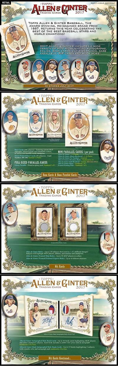Baseball Cards 213: 2017 Topps Allen And Ginter Baseball Factory Sealed 24 Pack Box -> BUY IT NOW ONLY: $74.99 on eBay!