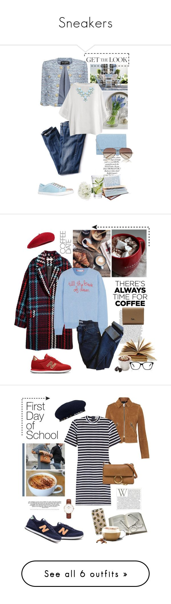 """""""Sneakers"""" by desdeportugal ❤ liked on Polyvore featuring Balmain, Carvela, Victoria's Secret, Herz, John Lewis, Givenchy, Linda Farrow, Lingua Franca, New Balance and Fivestory"""