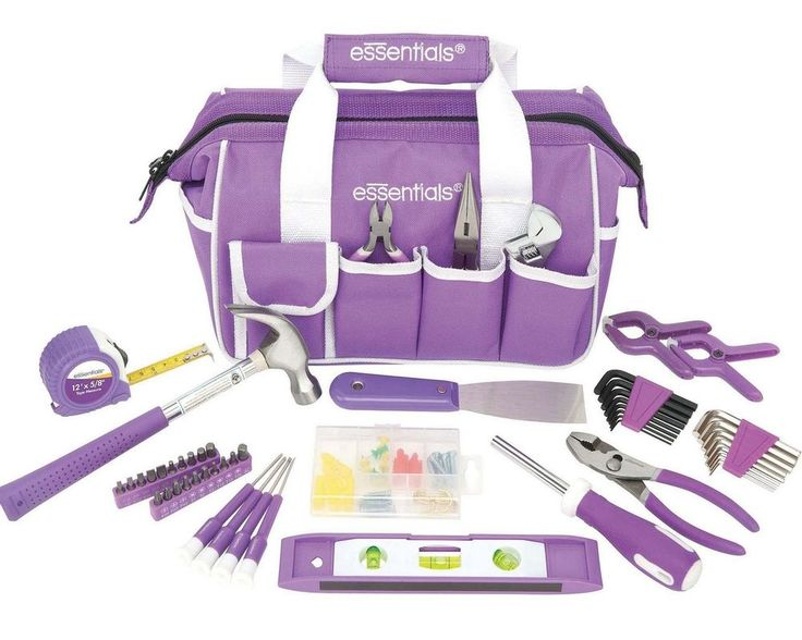 Using this 53-piece hand tools set purple around the house tool kit mixed house toolset you can now take care of general maintenance and repair tasks around your home. This hand tools set purple around the house tool kit mixed house toolset comes with 53 different pieces all made to help with household tasks. It comes with pliers, screwdrivers, a hammer, a level, spring clamps, a small tape measure and a few sets of Allen wrenches, as well as additional small items.