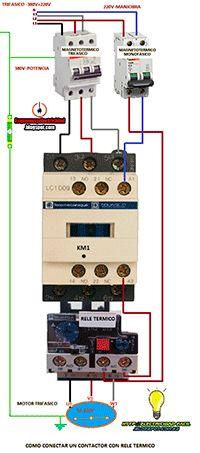 Esquemas eléctricos: Arranque directo de un contactor con rele termico