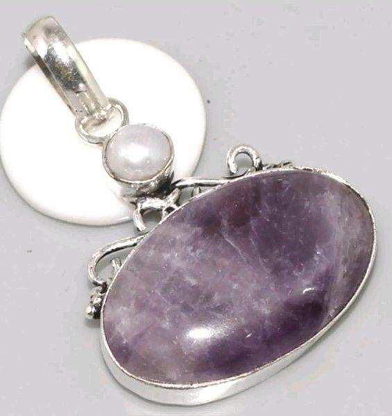 Pendant Amethyst Pearl $20 www.ancientvisions.com.au