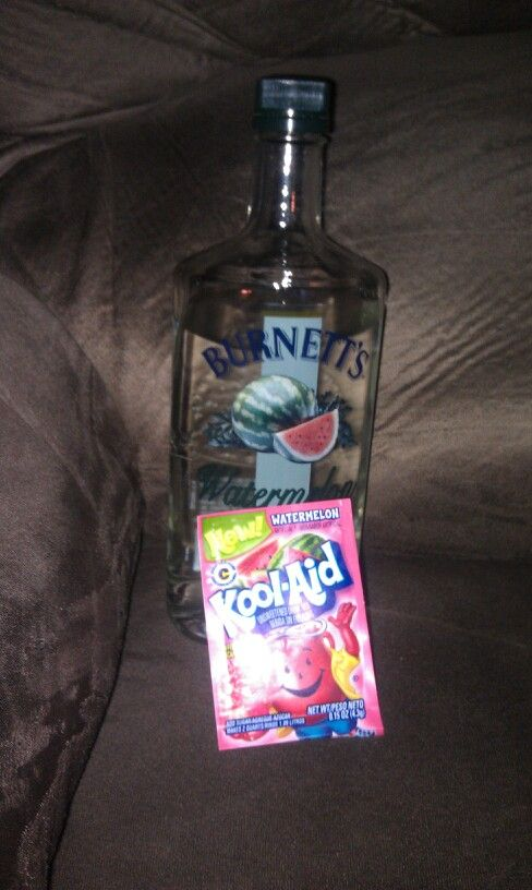 Our new fav (cheap) summertime drink ;) watermelon vodka & watermelon kool aid. Soooo good!
