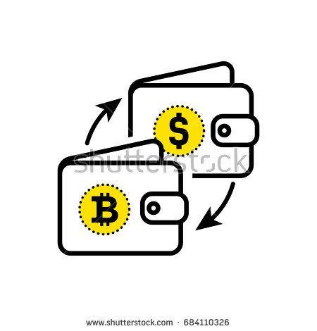 Абстрактный знак обмена валюты.  Доллар биткойн знак.  Плоский дизайн.Вектор иллюстрации изолированные белый фон для веб-сайта или приложения и т. Д.