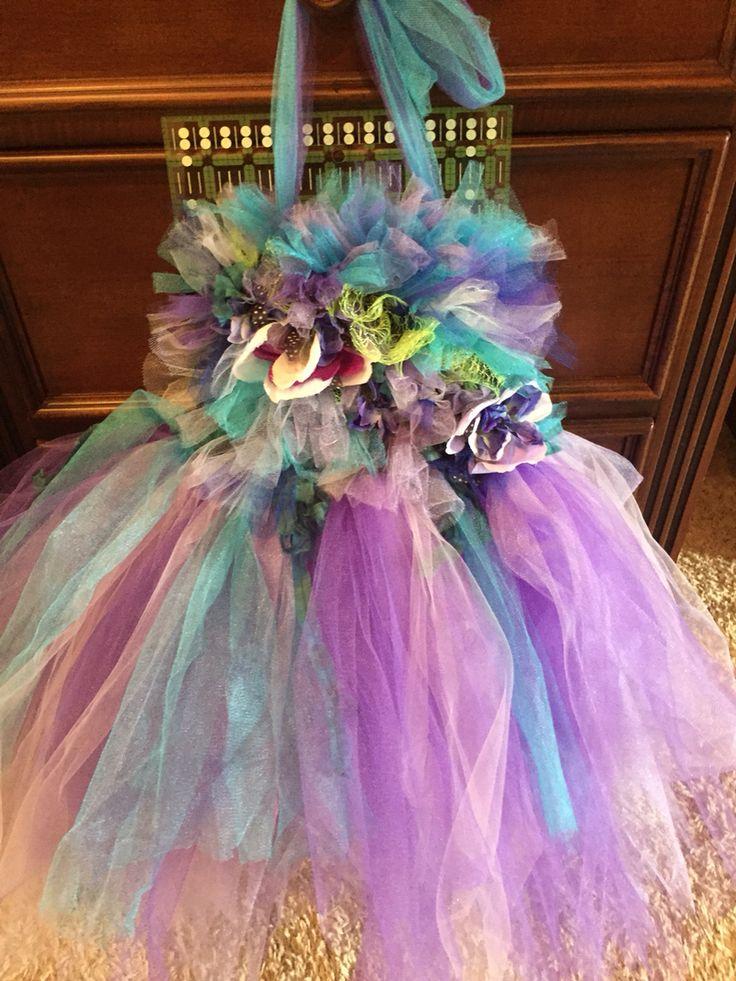 Little girl dress purple