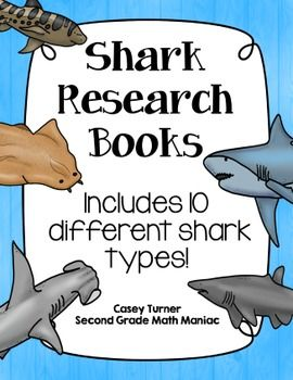 These shark research books would be the perfect addition to any shark unit! Each book has space for students to fill in information including diagram, diet, threats, habitat, appearance, interesting facts, and adaptations.  There are 10 different shark types included in this set, as well as one generic shark book.