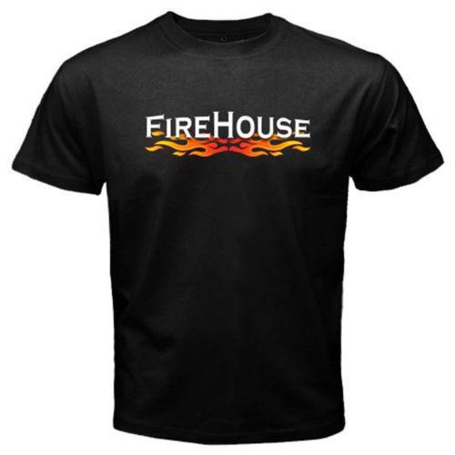 New-FIREHOUSE-BAND-Logo-Rock-Band-Mens-Black-T-Shirt-S-M-L-XL-2XL-3XL