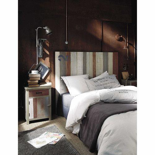 t te de lit en bois l 140 cm salon pinterest t tes de lit en bois et t tes de lit. Black Bedroom Furniture Sets. Home Design Ideas