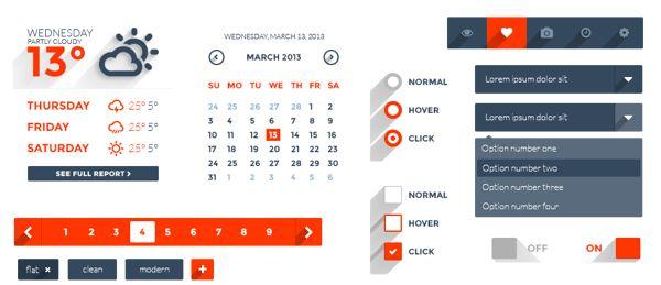 Long Shadow Web UI by Berk Güçlükol, via Behance