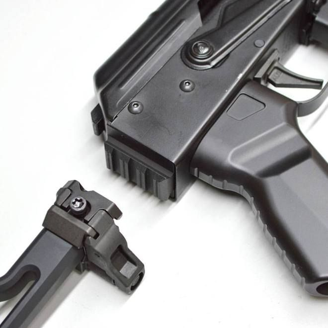 Aeroknox released on their Facebook page some images of a new product which is still in development and isn't yet available on their website. They are developing a rear trunnion for AK-47 type rifles, which provides a Picatinny rail section as shown in the picture below. That feature allows attaching SIG MPX/MCX stocks to AK rifles. The new …   Read More …