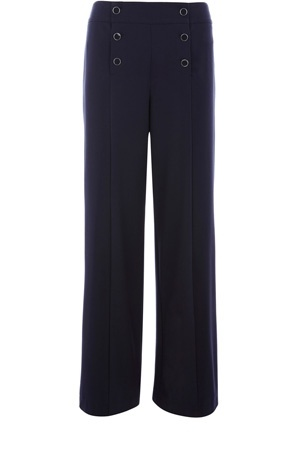 Oasis Trousers/Shorts | Navy Sailor Front Wide Leg Trouser | Womens Fashion Clothing | Oasis Stores UK - StyleSays