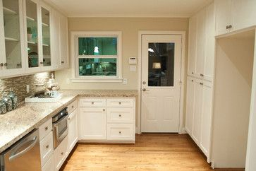 White Cabinets With Honey Oak Trim