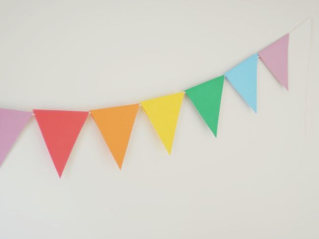Need some quick festive decor for your party? Try this Paper Party Banner that's so easy to DIY that even the kids can help!