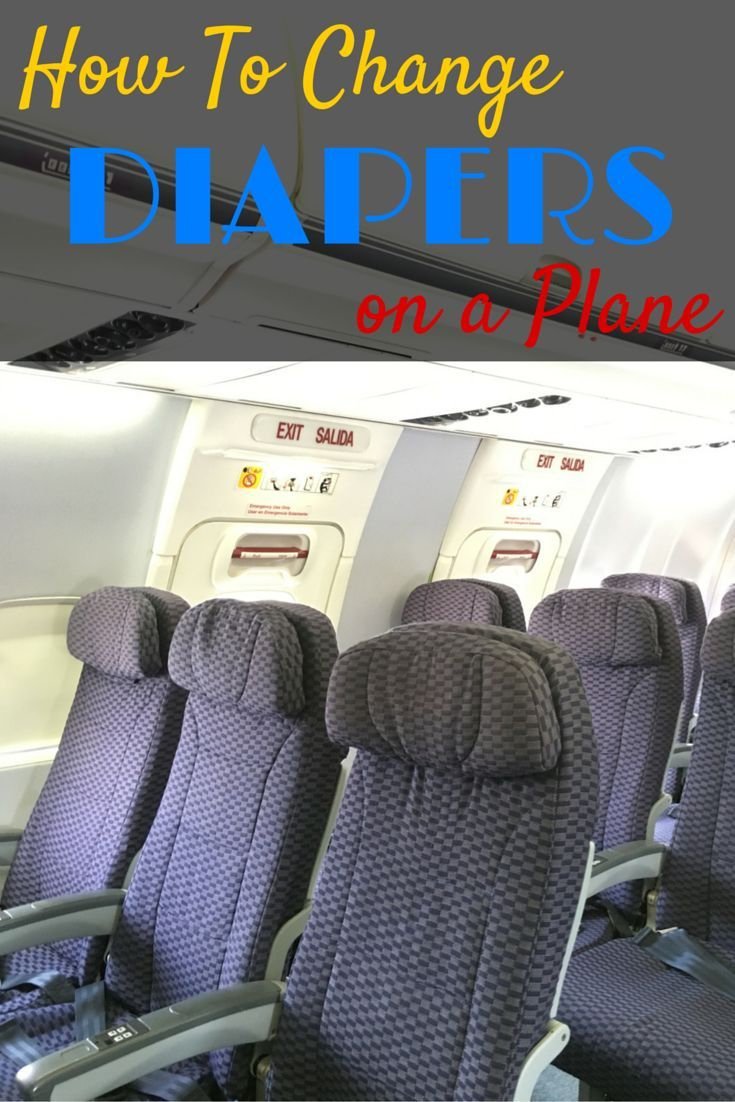 6 Tips for Changing Diapers on a Plane: Find yourself on a flight with no changing table? No problem! Here's how to hack airplane diaper changes when traveling with babies and toddlers.