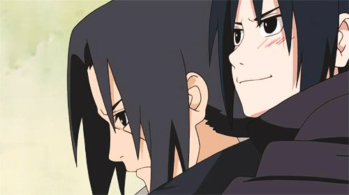 Itachi looks so concerned and thoughtful, while Sasuke seems confident about the future.