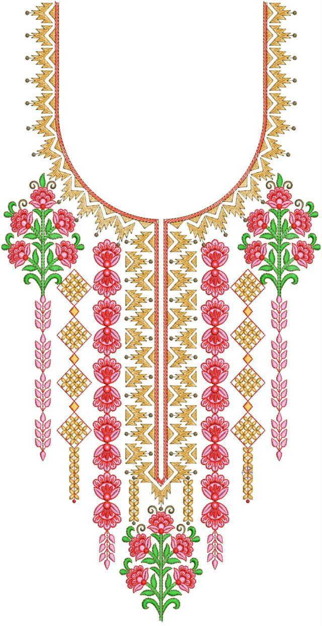 kenya masai Neck / Gala Embroidery Design Embroidery