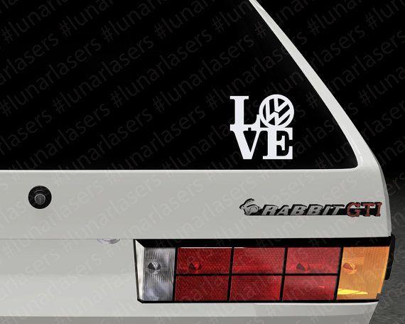 Volkswagen love window decal vw love volkswagen sticker volkswagen decal vw sticker