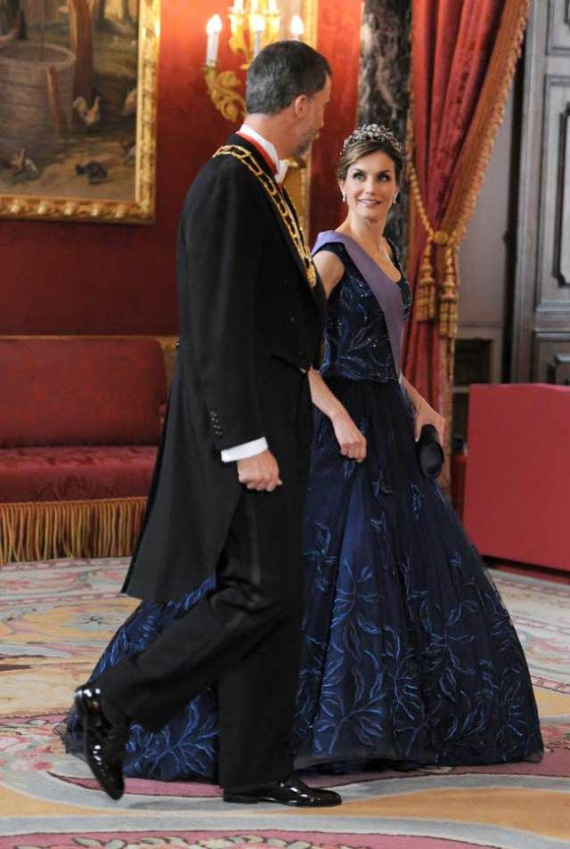 MyRoyals:  Peruvian State Visit to Spain, July 7, 2015-State Dinner-King Felipe and Queen Letizia