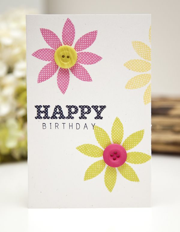 Birthday Flowers Card by Ashley Cannon Newell for Papertrey Ink (June 2013)