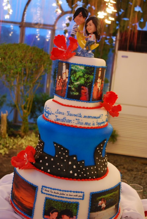 Our Wedding Cake By Miss Matamis Featured The Nyc Skyline