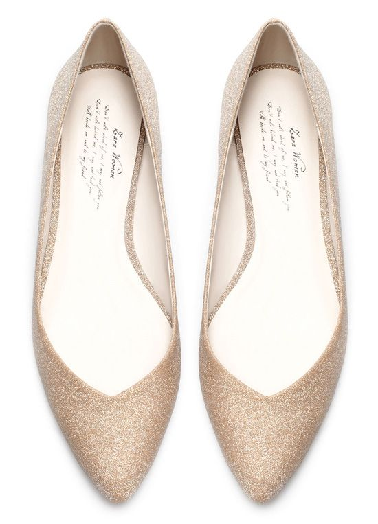 Zara gold ballet flats                                                                                                                                                                                 More