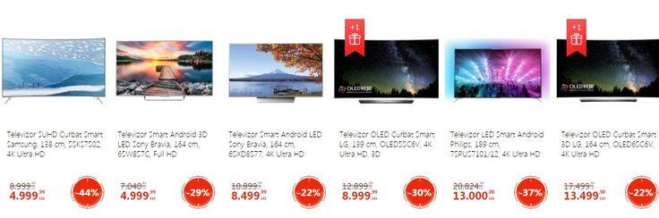 eMAG: Televizoare cu reducere de pana la 47%.