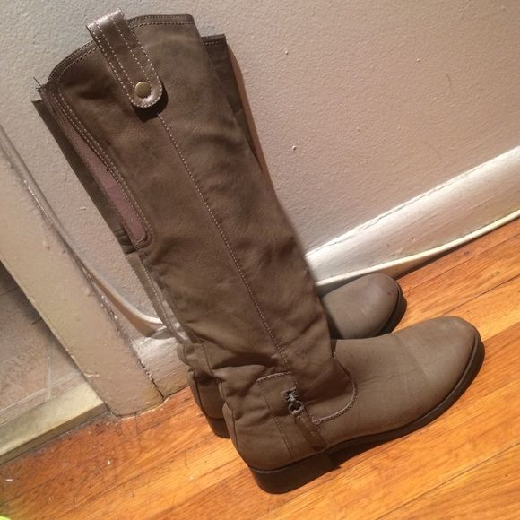 Tall boots Tall dark beige zip up boots Call It Spring Shoes