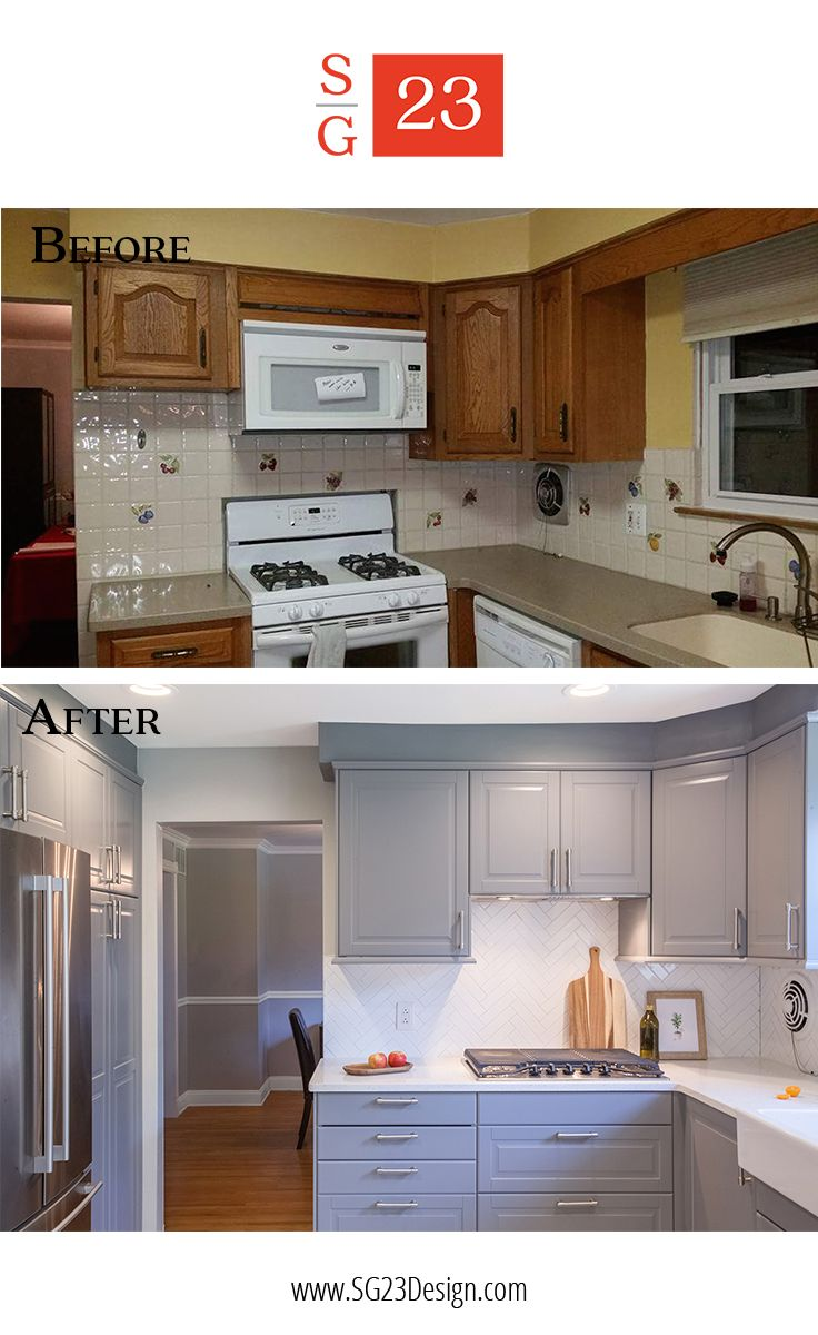 Before And After Of A Kitchen Transformation In Cherry Hill Nj