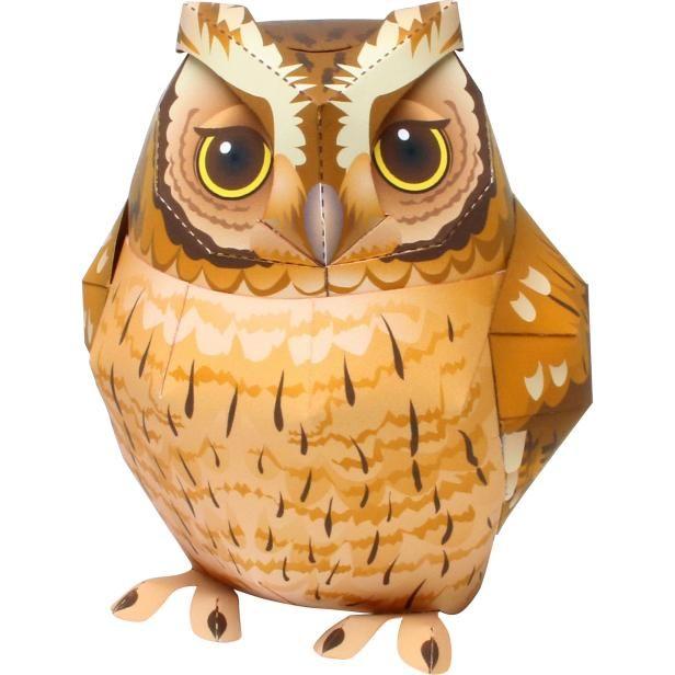 Tropical Screech Owl,Animals,Paper Craft,Animals,Paper Craft,Pet series,Birds,owl,cute