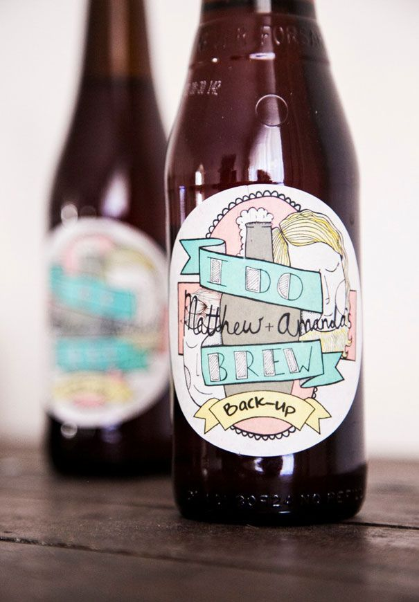 WEDDING FAVOUR INSPIRATION // #favours #bonbonniere #gifts #wedding #ceremony #reception #beer #inspiration