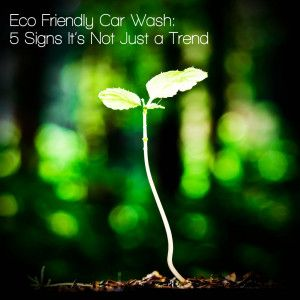 Eco Friendly Car Wash – 6 Signs It's Not Just a Trend - DetailXPerts Franchise Blog