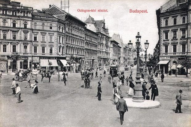 Octogon square in the early 1900's