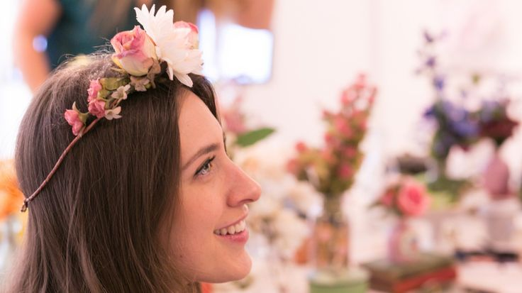 It's finally spring, and there's a sweet trend emerging right along with the daffodils: floral crowns.