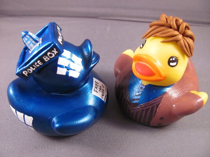 OMG! Ducktor Who and his Tarducks - cake topper? Wedding favor? Someone please do something like this!!