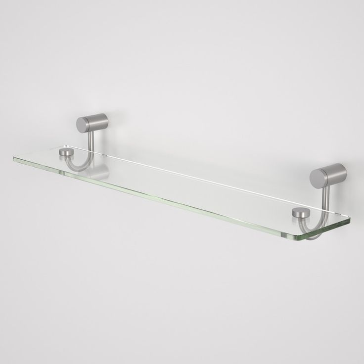 titan stainless steel glass shelf httpwwwcaromacomau glass shelvesbathroom accessoriesshelfstainless - Bathroom Accessories Glass Shelf