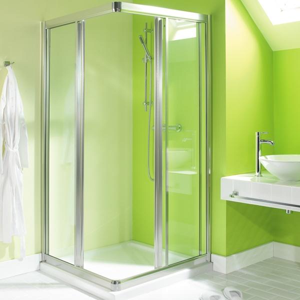 Baños Color Verde Limon:Lime Green Room Shower